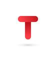 Letter T logo icon design template elements vector image