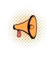 Megaphone loudspeaker comics icon vector image vector image