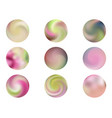 modern round gradients collection vector image vector image
