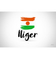 Niger country flag concept with grunge design