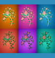 ornamental flowers composition vector image vector image