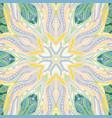 Ornamental lace floral mandala square pattern vector image