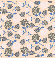pale rose pink and grey floral pattern seamless vector image vector image