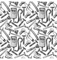 pattern with razor vector image vector image