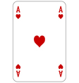 Poker playing card Ace heart vector image vector image