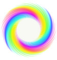 rainbow whirlwind design element on white vector image vector image