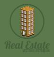Real estate design over green background vector image