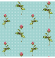 rose pattern in blue vector image vector image