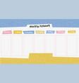 school timetable with doodle school supplies vector image