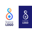science logo for company or event element vector image vector image