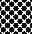 Seamless black and white curved octagon pattern vector image vector image