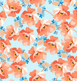 Seamless floral patter with blue flowers vector image vector image