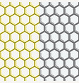 seamless honeycomb pattern geometric background vector image vector image