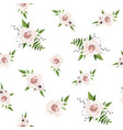 seamless pattern floral watercolor design vector image vector image