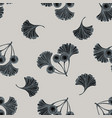 seamless pattern with hand drawn stylized ginkgo vector image