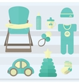 Set baby for boy elements vector image vector image