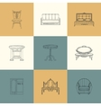 Set of furniture for home vector image