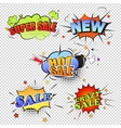 Set of pop art comic sale discount promotion vector image vector image