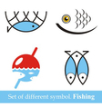 set of symbols Fishing vector image