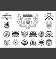 set vintage emblems for hunting club vector image