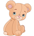 Sitting Teddy Bear vector image vector image