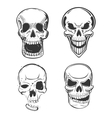Skull tattoo art in sketch style vector image vector image