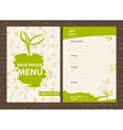 Template of a vegetarian menu for a cafe vector image