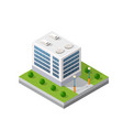 the smart building home vector image