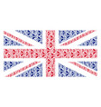 uk flag mosaic of bee items vector image vector image