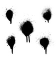 various spray paint graffiti decorative splatters vector image vector image