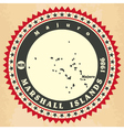 Vintage label-sticker cards of Marshall Islands vector image vector image