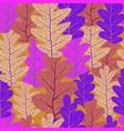 violet leaves pattern vector image vector image