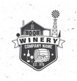 winery company badge sign or label vector image