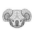 Zentangle stylized koala head Sketch for tattoo vector image