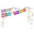 Happy new year Flags Christmas garland and vector image
