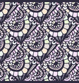 doodle seamless pattern in creative floral vector image