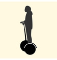 a silhouette of a woman resting and fast rides on vector image
