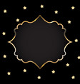 abstract card with golden frame vector image vector image