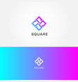 abstract simple square logo sign symbol icon vector image vector image