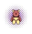 Baby bear comics icon vector image