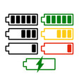 battery charge level set isolated on vector image
