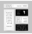 Business cards design chinese calligraphy vector image