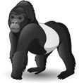 cartoon funny gorilla vector image vector image