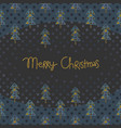 christmas greeting card with fir trees vector image vector image