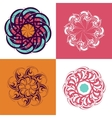 Circle ornament set vector image vector image