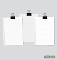 Collection of various white papers ready for your vector image vector image