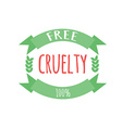 Cryelty free label or logo vector image vector image