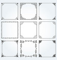 decorative frames and borders square set 2 vector image vector image