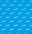 desert snake pattern seamless blue vector image vector image