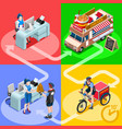 food truck chicken wings home delivery isometric vector image vector image